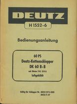 DK 60 B-B - Bedienungsanleitung