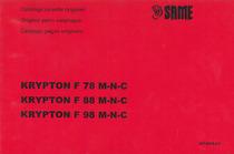 KRYPTON F 78-88-98 M-N-C - Catalogo ricambi originali / Original parts catalogue / Catálogo peças originais