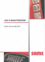 IRON 185 HI-LINE DCR - Uso e manutenzione