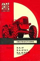 """D.A. 67 - D.A. 67 D.T. - D.A. 67 D.T./M """"DOUBLE TRACTION"""" - Utilisation et entretien"""
