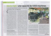 Deutz-Fahr: une capacité de 1000 machines.