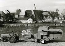 [Köla] trebbiatrice Saphir a Lauingen lungo il Danubio