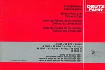M 900 - M 922 - M 980 - M 1002 - M 1080 - M 1102 - M 1202 - M 1300 - M 1300 H - M 1302 - M 1302 H - M 1600 H - Ersatzteilliste Fahrerkabine gültig ab Baujahr 1974 / Spare parts list driver's cab valid from year of construction 1974 / Liste de pièces de rechange cabine du conducteur valable à partir de l'an de construction 1974 / Lista de piezas de recambio cabina del conductor valida a partir de l'ano de construccion 1974