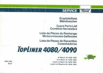 TOPLINER 4080/4090 ab Masch. Nr. 6208-5005 / from Mach. Nr. 6208-5005 / à partir de Mach. No. 6208-5005 / a partir de Maquina No. 6208-5005 - Ersatzteilliste Mähdrescher / Spare Parts List Combine Harvesters / Liste de Pièces de Rechange Moissonneuses-batteuses / Lista de Piezas de Recambio Cosechadoras