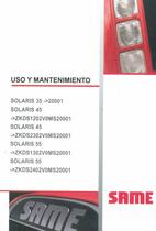 SOLARIS 35 ->20001 - SOLARIS 45 ->ZKDS1202V0MS20001 - SOLARIS 45 ->ZKDS2302V0MS20001 - SOLARS 55 ->ZKDS1302V0MS20001 - SOLARIS 55 ->ZKDS2402V0MS20001 - Uso y mantenimiento