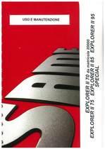 EXPLORER II 70 da matricola n. 20000 - EXPLORER II 75 - 85 - 95 SPECIAL - Uso e manutenzione