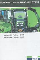 AGROFARM 420 PROFILINE ->25001 - AGROFARM 430 PROFILINE ->15001 - Betriebs-und Wartungsanleitung