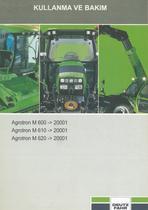 AGROTRON M 600 ->20001 - AGROTRON M 610 ->20001 - AGROTRON M 620 ->20001 - Kullanma ve bakim