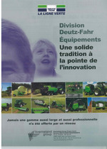 Division Deutz- Fahr Equipements Une solide tradition a la pointe de l'innovation