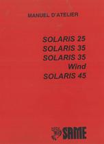 SOLARIS 25 - 35 - 35 WIND - 45 - Manual d'atelier