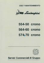 554.50 - 564.60 - 574.70 CRONO - Uso y Mantenimiento