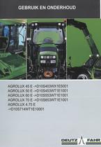 AGROLUX 45 E ->D10S403WX1E5001 - AGROLUX 50 E ->D10S453WT1E1001 - AGROLUX 60 E ->D10S553WT1E1001 - AGROLUX 70 E ->D10S653WT1E1001 - AGROLUX 4.75 E ->D10S714WT1E10001 - Gebruik en onderhoud