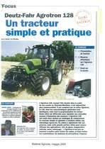 Un tracteur simple et pratique