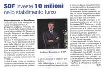 SDF investe 10 milioni nello stabilimento turco