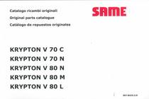 KRYPTON V 70 C - KRYPTON V 70 N - KRYPTON V 80 N - KRYPTON V 80 M - KRYPTON V 80 L - Catalogo ricambi originali / Original parts catalogue / Catalogo de repuestos originales