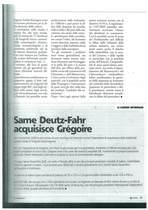 SAME Deutz-Fahr acquisisce Grégoire