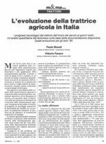 L'evoluzione della trattrice agricola in Italia
