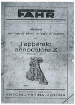 APPARATO ANNODATORE Z - Libretto Uso e Manutenzione / Catalogo ricambi originali