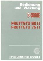 FRUTTETO 60 II - 75 II - Bedienung und wartung