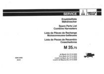 M 35.75 - Ersatzteilliste / Liste de Pièces de Rechange / Spare Parts List / Elenco dei Pezzi di Ricambio / Lista de Piezas de Recambio
