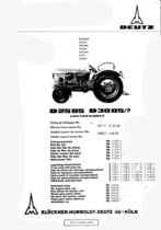 D 2505-D 3005/P - Ersatzteilliste / Spare parts catalogue / Catalogue de pièces de rechange / Lista de repuestos