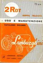 2 R DT - Istruzioni per l'uso e la manutenzione e catalogo ricambi