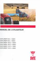 EXPLORER³ 85 E ->50001 - EXPLORER³ 85 E ->60001 - EXPLORER³ 100 E ->50001 - EXPLORER³ 100 E ->60001 - EXPLORER³ 115 E ->10001 - EXPLORER³ 115 E ->20001 - Manuel de l'utilisateur