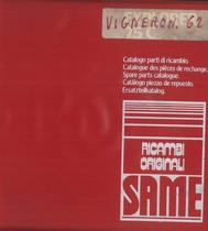 VIGNERON 62 - Catalogo Parti di Ricambio / Catalogue de pièces de rechange / Spare parts catalogue / Ersatzteilliste / Lista de repuestos