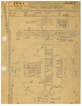 Trattorino 901 - Coperchio per supporto ingranaggi sterzo - Disegno 1369