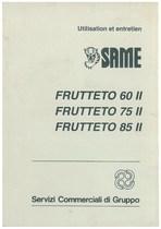 FRUTTETO 60 II- 75 II - 85 II - Utilisation et entretien
