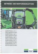 AGROTRON K 410-420-610-430 - Betriebs und Wartungsanleitung