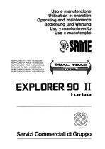 EXPLORER 90 II TURBO Libretto Uso & Manutenzione - Supplemento versione Dual Trac system