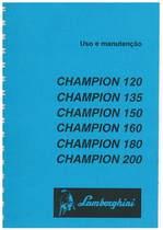CHAMPION 120 - 135 - 150 - 160 - 180 - 200 - Uso e Manutenção
