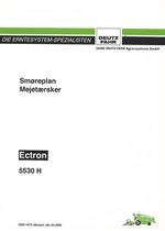 SMØREPLAN ECTRON 5530 H - Brug og vedligeholdelse