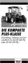 AGROPLUS 60 - 70, Die kompakte plus-klasse