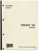 TRIDENT 130 EXPORT - Workshop manual