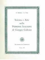 BALDINI Enrico, TOSI Alessandro, Scienza e arte nella POMONIA ITALIANA di Giorgio Gallesio, Firenze, Nuova stamperia Parenti, 1994