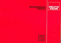 D 68 07 - D 72 07 - D 78 07 - Betriebsanleitung