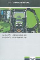 AGROTRON X 710 ->WSXL900400LD10001 - AGROTRON X 720 ->WSXL930400LD10001 - Uso e manutenzione