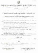 Atto di omologazione della trattrice SAME Leone e Leone/1