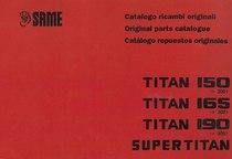 TITAN 150-165-190 SUPERTITAN - Catalogo Parti di Ricambio / Spare parts catalogue / Catálogo peças originais
