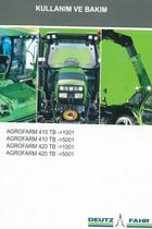 AGROFARM 410 TB ->1001 - AGROFARM 410 TB ->5001 - AGROFARM 420 TB ->1001 - AGROFARM 420 TB ->5001 - Kullanim ve bakim