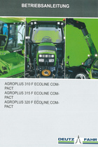 AGROPLUS 310 F ECOLINE COMPACT - AGROPLUS 315 F ECOLINE COMPACT - AGROPLUS 320 F ECOLINE COMPACT - Betriebsanleitung