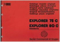 EXPLORER 75 - 80 C - Catalogo Parti di Ricambio / Catalogue de pièces de rechange / Spare parts catalogue / Ersatzteilliste / Lista de repuestos / Catálogo peças originais