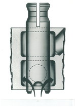 Posizione delle 3 valvole del distributore della SAC.