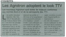 Les Agrotron adoptent le look TTV