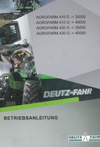 AGROFARM 410 G ->35000 - AGROFARM 410 G ->40000 - AGROFARM 430 G ->35000 - AGROFARM 430 G ->40000 - Betriebsanleitung