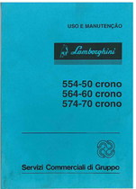 554.50 CRONO - 564.60 CRONO - 574.70 CRONO - Uso e Manutenção