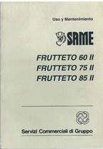 FRUTTETO 60 II- 75 II- 85 II - Uso y manutencion