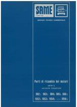 MOTORE 982 - 983 - 984 - 1052 - 1053 - 1054 - 985 - 986 - 1056 L - Catalogo Parti di Ricambio / Catalogue de pièces de rechange / Spare parts catalogue / Ersatzteilliste / Lista de repuestos